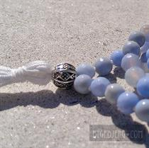 Blue filigree mala
