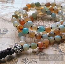 Summer knot mala faceted 88 cm *