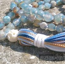 Love blue silk mala 98cm *